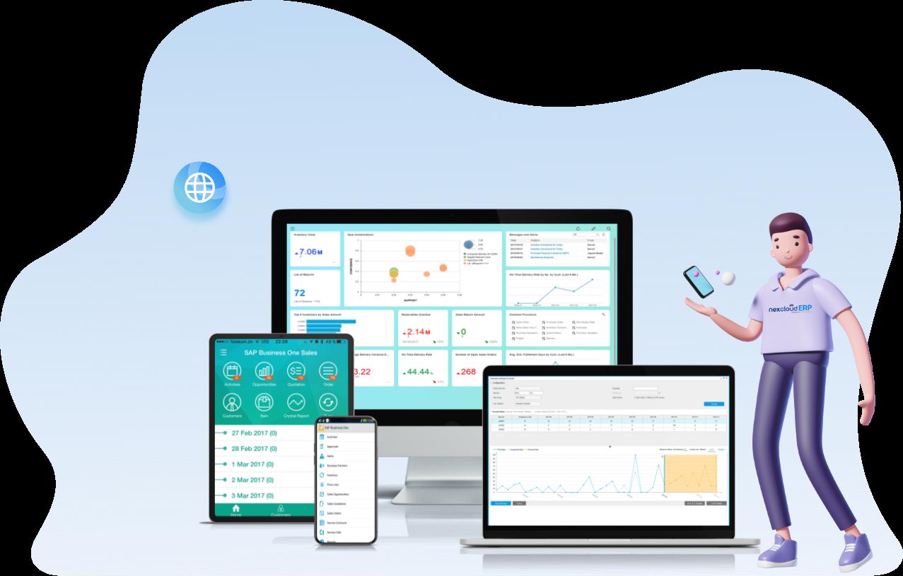 ระบบ cloud ERP nexcloud powered by SAP Business one ราคา เพื่อธุรกิจ SMEs ไทย